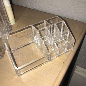Acrylic makeup organizer storage